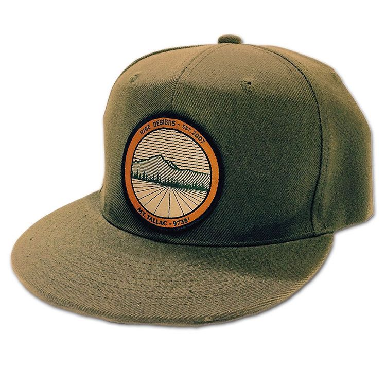 Another angle on the Mt. Tallac hat we made. Grab one from our website today, or check out our etsy page. Risedesigs.etsy.com #risedesigns #risedesignstahoe #patch #SnapBack #hat #meyerspride #mttallac #tahoebasin