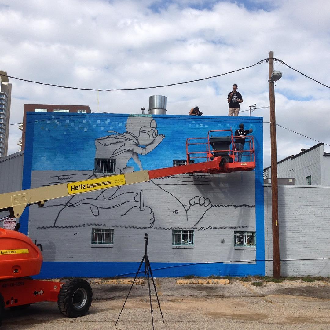 Progress @lucasaokiart • • #atx #austintx #texas #tx #spratx #art