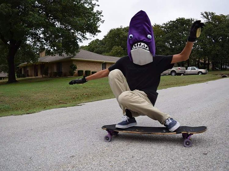 #LoadedAmbassador @henry0rtiz sharking it up for Halloween.  #LoadedBoards #Orangatang