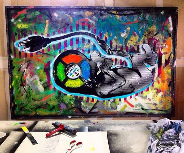 """@mingledmediums_art • • """"And Heart Disfunctional"""" • • #atx #austintx #texas #tx #spratx #art #mixmedia"""