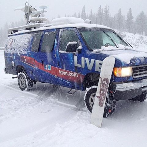 The snow has arrived in #Tahoe @borealmtn
