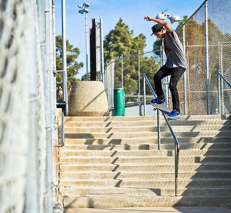 Seen his heavy #omfg part? >>> @nyjah gives Monday a jolt with this switch smith amongst countless bangers now playing on @thrashermag >>> what's your favorite trick in it?