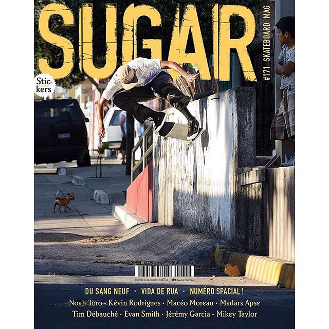 Congrats to @thaynancosta on getting the cover of the latest @sugarskatemag! Stay tuned for Thaynan's part in #DeLaCalleDaRua dropping this month! Photo: @gastonfrancisco #ThaynanCosta #DCShoes