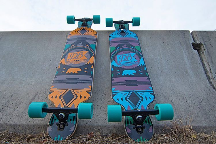 "Two of our most popular longboards the Urban Native 38"" and 40"" chillin.  Check them out at DBlongboards.com #dblongboards #urbannative #longboard #longboarding"