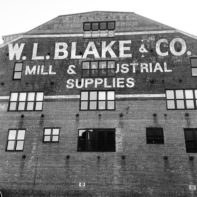 Sick old mill supply wall mural in Portland, me. #wlblakeandco #wallmural #portland #maine #brickmural #portlandme