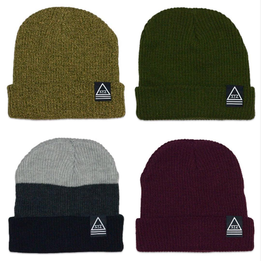 New cuff or slouch beanies! It's snowing out west so get ready now.