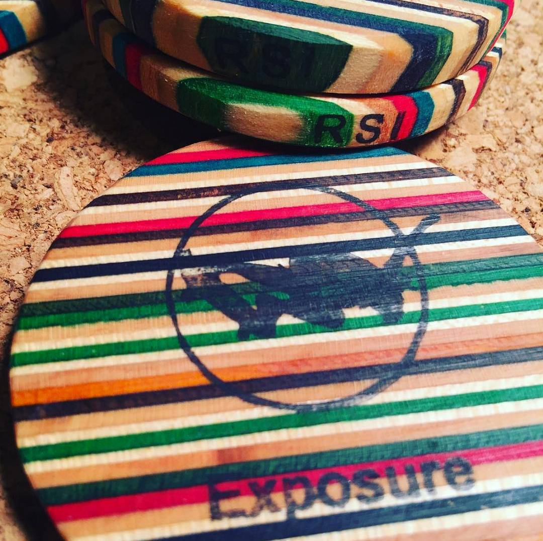 The top rippers next weekend will receive these awesome #Exposure2015 Awards by @recyledskatelisa and the @recycledskateboardsintl team #layeredline