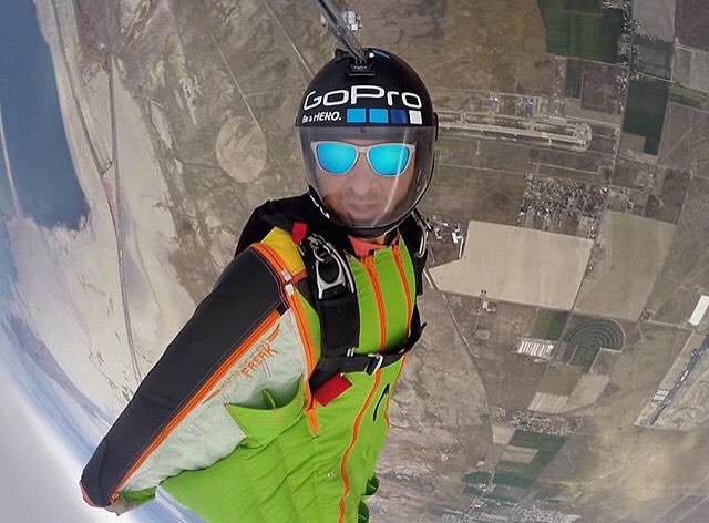Turn the world upside down  @marshall__miller showcasing the Blue Steel frames  #Kameleonz #GoPro #Skydive