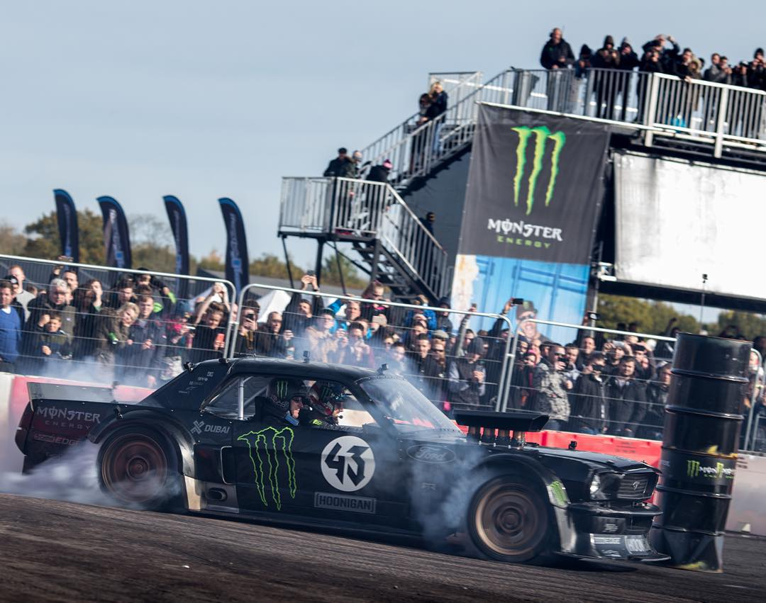 Tires don't stand a chance when @KBlock43 is behind the wheel. (