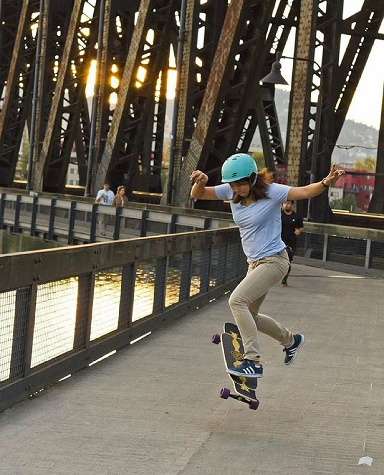 @iamcindyzhou's monthly column on @skateslate is out! Go check out October's recap.  @honjuey photo.  #longboardgirlscrew #womensupportingwomen #skatelikeagirl #lgc #cindyzhou
