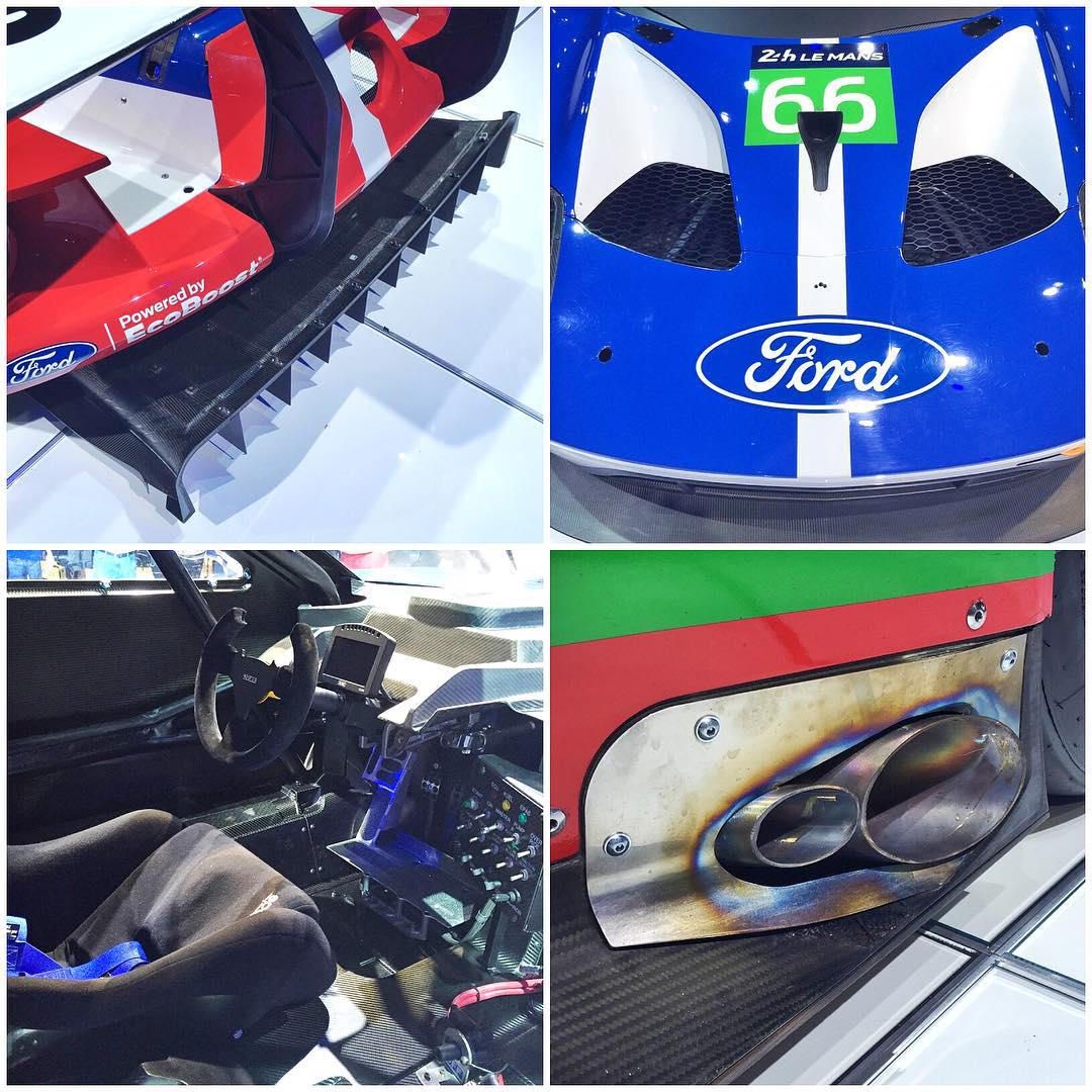 A few details of the new Ford GT racecar here at SEMA. This thing is a piece of racing artwork, every angle of it is ridiculously cool! If you're here in Las Vegas for SEMA this week, you have to come check it out in the Ford area. Looks amazing in...