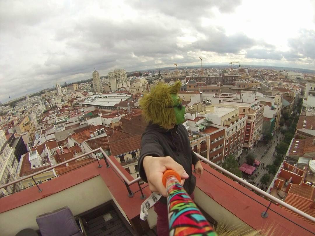 #TheZephyrGrinch nos envia esta foto desde #Madrid con su #ZephyrPole!