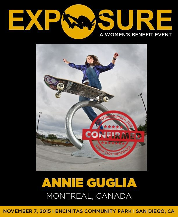 Annie Guglia (@nnieguglia) is confirmed for #Exposure2015!