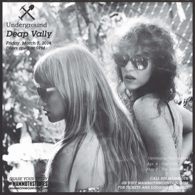 Get yourself out to snowy @mammothmountain this Friday for an epic @FILTERmagazine  x B4BC First Fridays at @undergroundmammoth with @deapvally benefiting B4BC!! It is going to be S O G O O D...make your weekend plans now!!