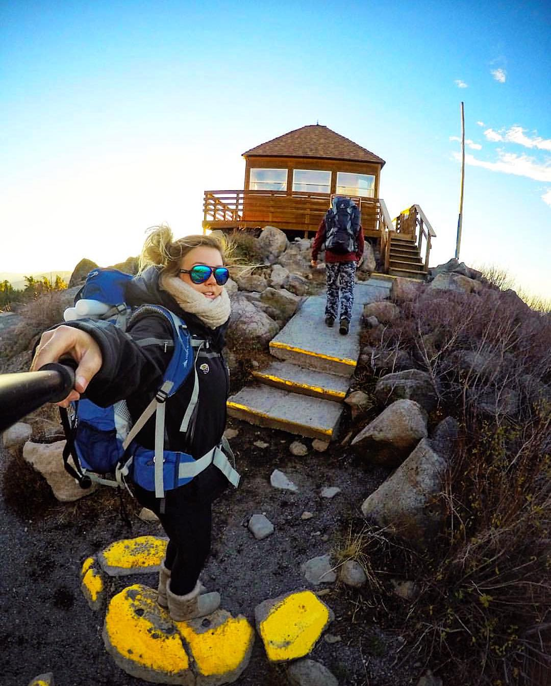 Backpacking into Lost Paradise @hannahbrie sports the Oasis shades #Kameleonz #Backpacking #GoPro