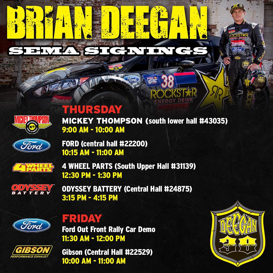 Be sure to come see me Thursday and Friday during SEMA at the @mickeythompsontires @ford @4wheelpartsofficial @odysseybattery and @gibsonexhaust booths! See you there!