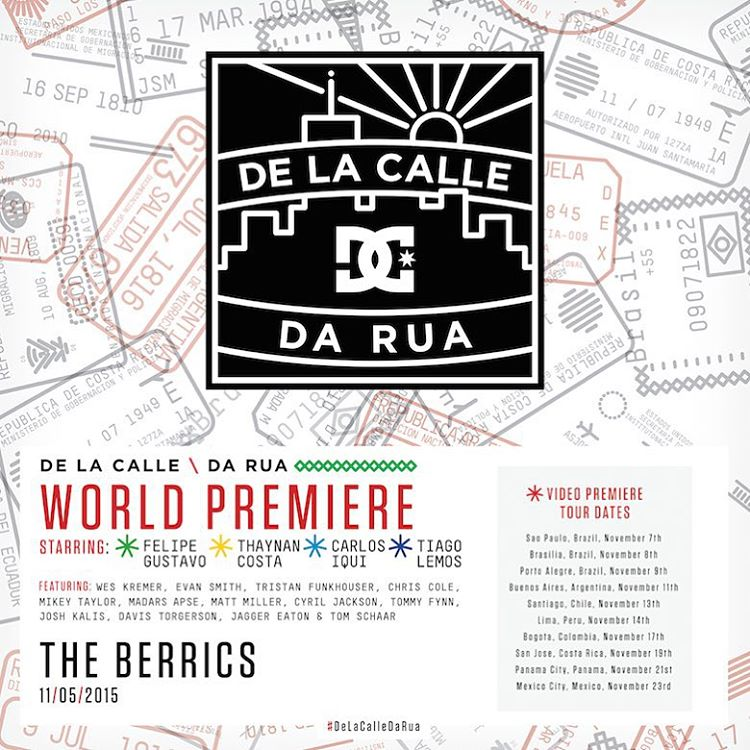 The world premiere of #DeLaCalleDaRua is going down this Thursday at the @berrics! Check out the link in our bio for a premiere location near you! #DCShoes