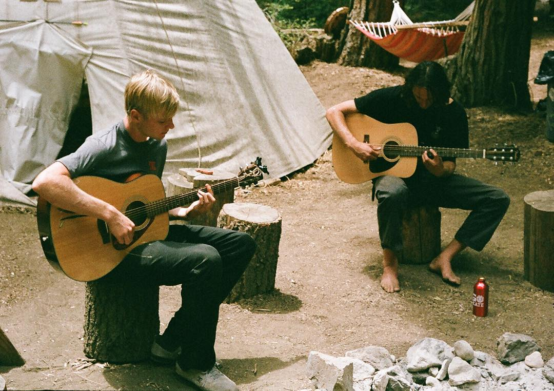 Team riders @madarsapse and Evan Smith (@Starheadbody) jamming out underneath the sequoias in the @Elementalawareness zone of @Elementskatecamp >>> #elementalawareness #35mm