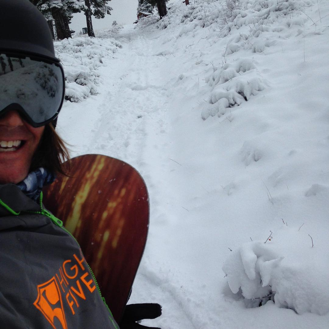 High Fives board member Ryan Williams got out yesterday, did you shred the early season snow?