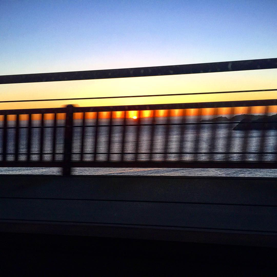 Sunset, in bound #SanFrancisco, let's do this!!!