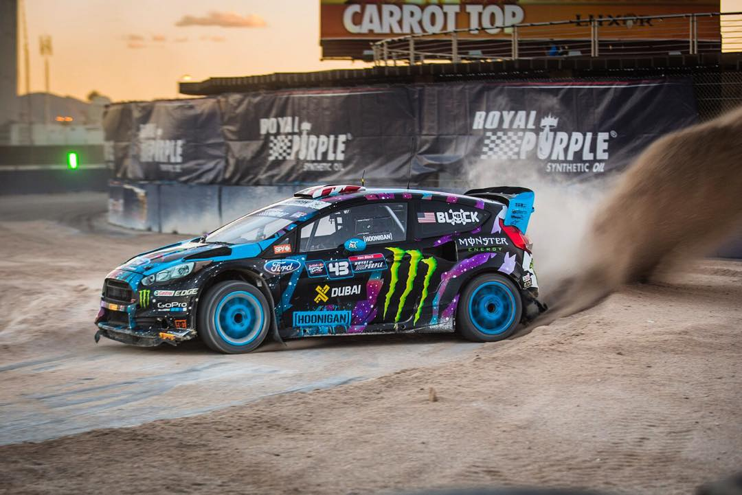 Big 'ol roost from the gravel section of #GlobalRallycross Las Vegas during practice runs earlier this afternoon. This part of the track is pretty gnarly - not much grip and a whole lot of ruts/bumps. Should make for some interesting racing tomorrow!...