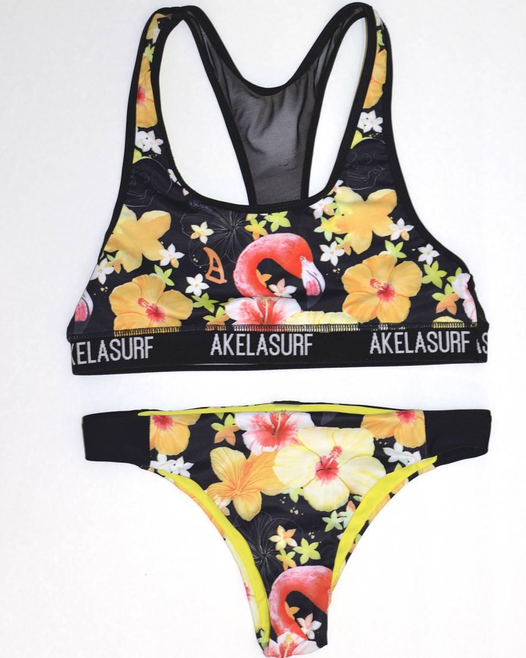 #AkelaSurf  @ali.kurzeja Collection #bikin top Pura #bikini bottom Tonga #tropical #florida #AkelaArt # fashion #surfswimwear