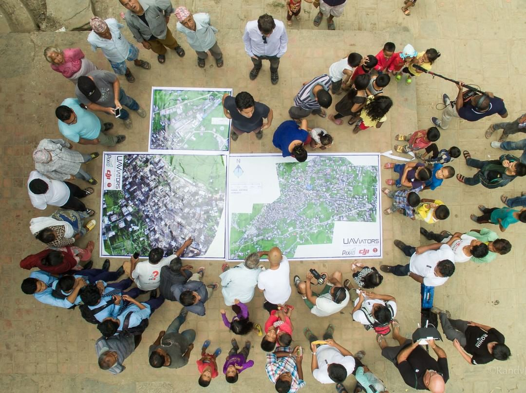 Print out of the 3D map produced with the #DJIStory in #Nepal with #pix4d, #UAViators and Smartisan.  The first humanitarian UAV mission for the Kathmandu Flying Labs, the combined effort of all helped with mapping and rebuild efforts necessary after...