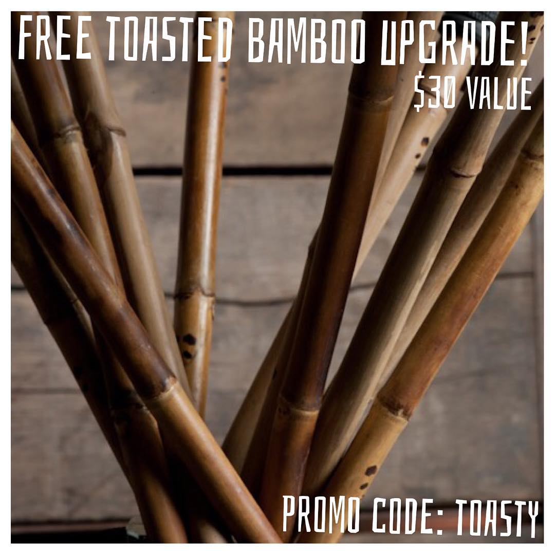 "Our ""RA"" bamboo is premium on its own accord, but everybody loves the ""Toasted""... Free Toasted bamboo upgrade ($30 value) for a limited time only! Add Toasted to your cart and apply promo code TOASTY at website checkout to redeem your..."