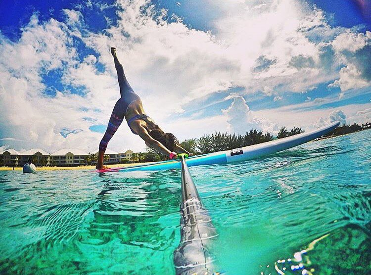 Yoga Wednesday's with @keysten! #roguesup #sup #standuppaddle #paddke #ocean