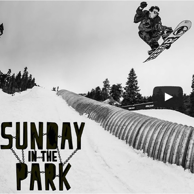 @sammy_spits throwing down in the newest episode of Sunday In The Park @bearmountain_ . Head over to @twsnow to check out the edit. @arborsnowboards
