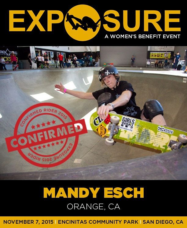 Mandy Esch is confirmed for #Exposure2015! We are excited to have this legend back in the mix! Photo by Chris Zsarnay