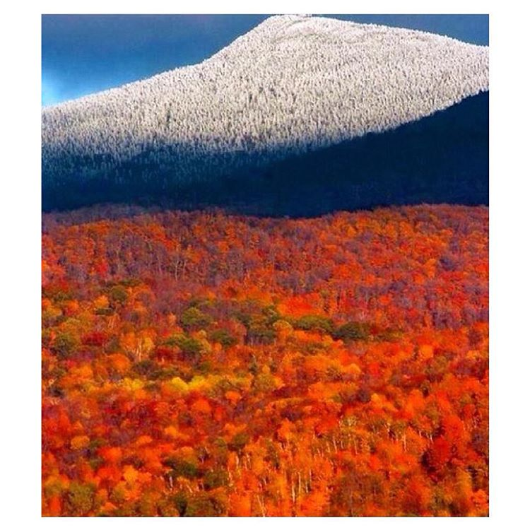 When nature just kills it. #Regram from @goodpeoplecom of the Vermont fall foliage. They say @killingtonmtn is already open for skiing & snowboarding - let the good times roll.