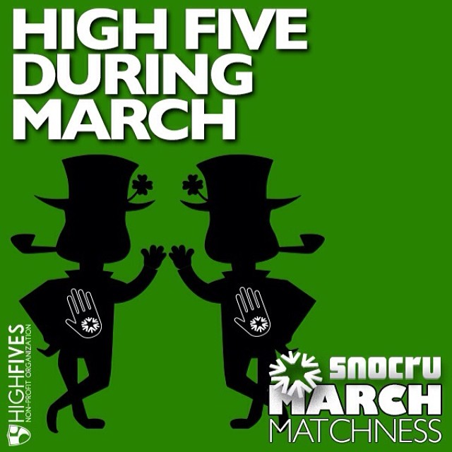 Thank you to @snocru for donating 50¢ for every High Five given in their Newsfeed to the High Fives Foundation as part of the #MarchMatchness month long campaign! Learn more and join in the fun at SNOCRU.com