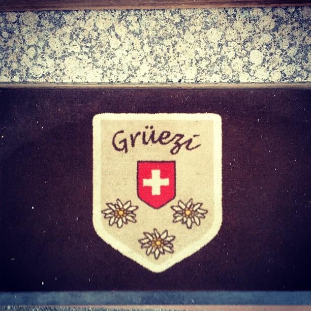 Saludo paisano del dialecto de acá. #switzerland