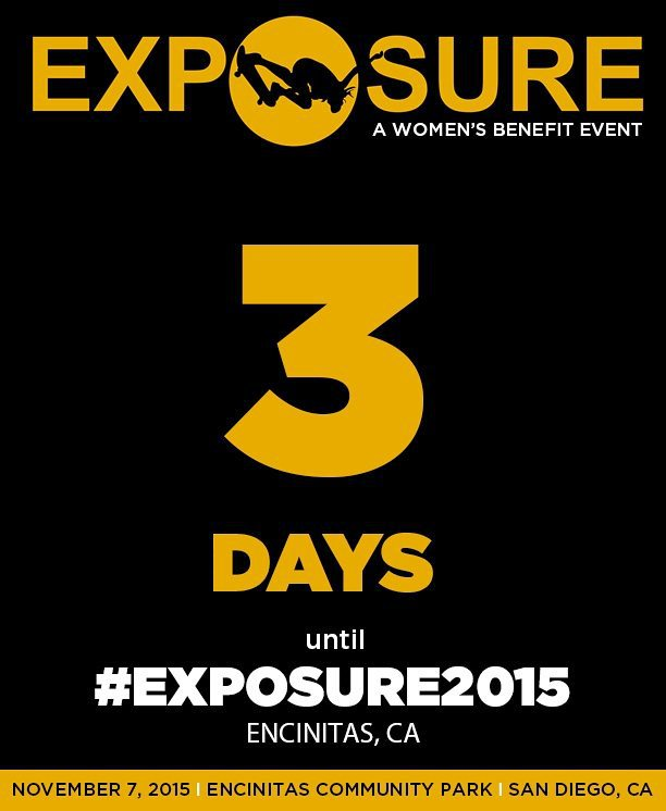 Only 3 days left until #Exposure2015. Find out more by clicking the link in our profile.  See you Saturday!
