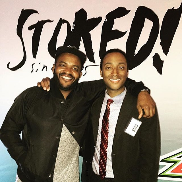 Our co-founders @salmasekela and @stokedsteve celebrating an amazing 10 years of @stokedorg!! Thanks to everyone who came out, and to those that support our cause. Stay tuned for much more in the next 10 years! #STOKED10
