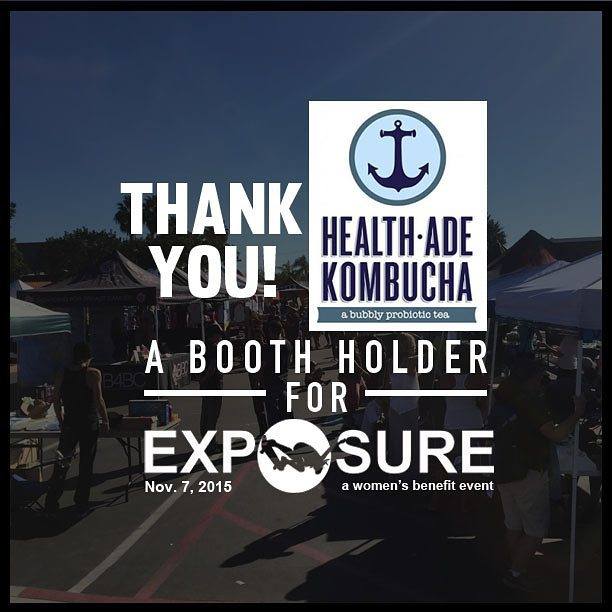 Thank you #healthadekombucha for being a booth holder at #Exposure2015.  We are excited to get some great Kombucha in between sessions this weekend!