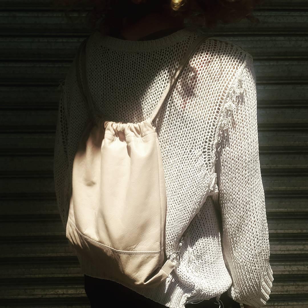 LIRIO HUESO  www.mambomambo.com.ar  #leather #backpacks #madeinbuenosaires