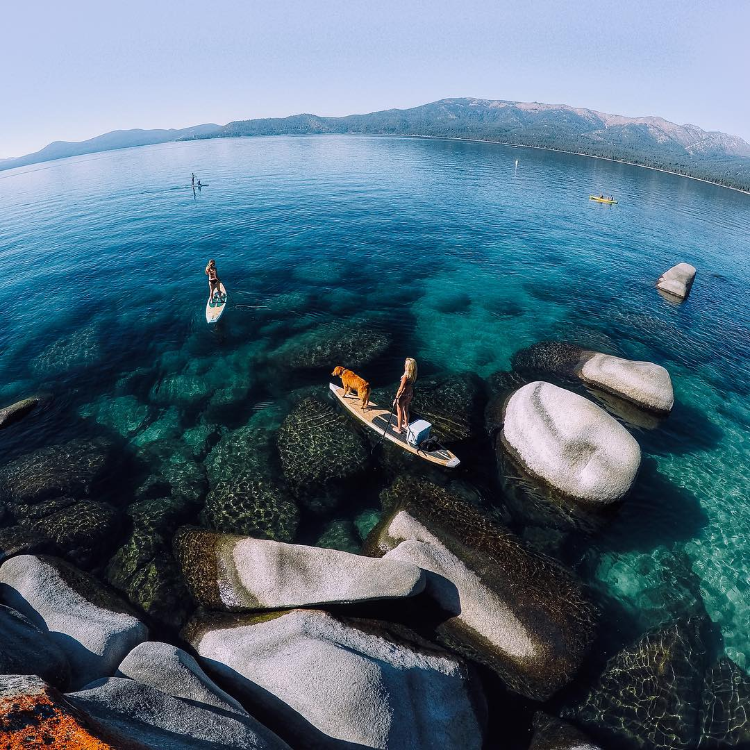 Photo of the Day! When the conditions on #LakeTahoe are perfect, the water beckons. #