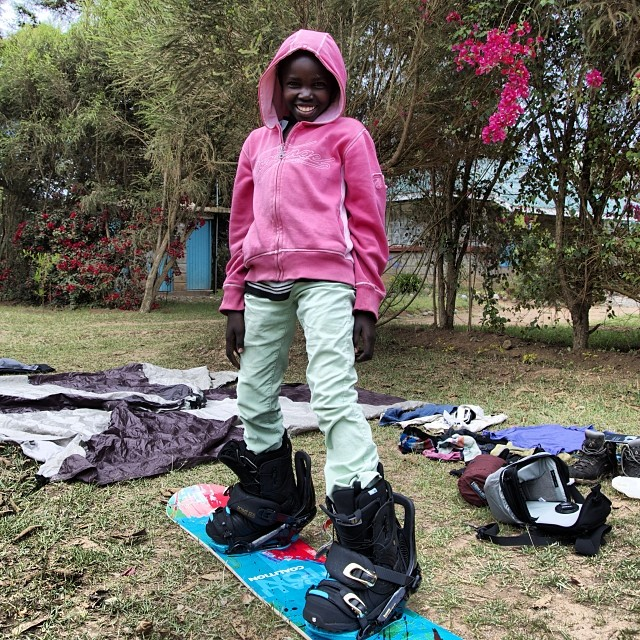 One of the many smiling faces that greeted us when we got off the #mountain. Find out the full story about our expedition on #MtKenya tomorrow night at @tahoemountainsports for Ladies' Night. Mega-raffle benefits SAFE AS Clinics, women's #avalanche...