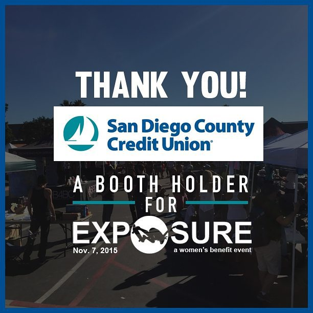 Thank you San Diego Credit Union for being a booth holder at #exposure2015 . Thank you for helping to empower women through skateboarding!