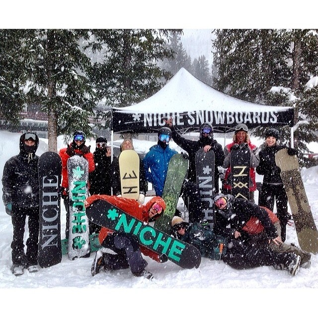 Today we had a blast hanging out with the @Milosport crew testing out the 2015 Niche decks up at Brighton! #itwasdumping