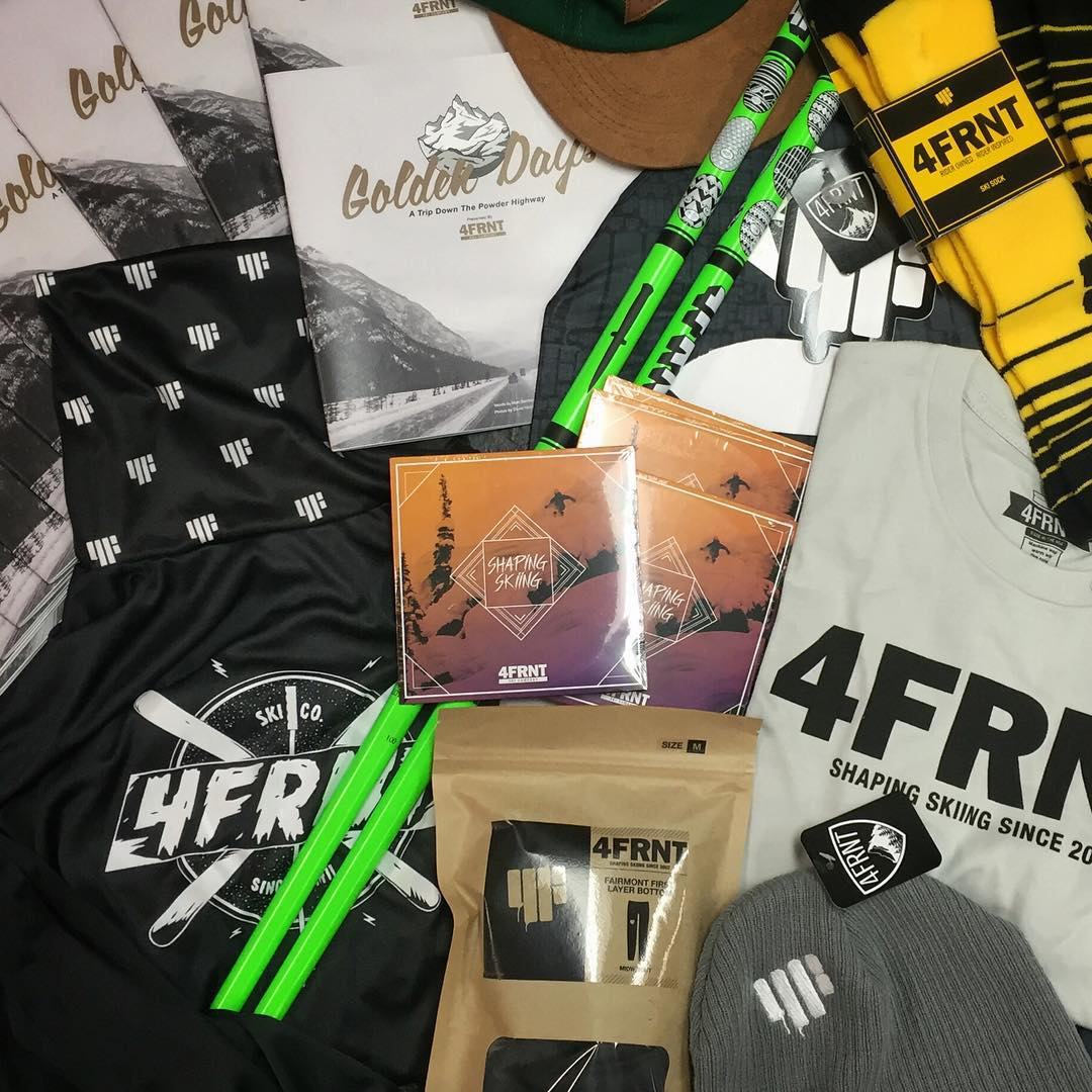 #OURGOLDENDAYS Giveaway Contest presented by 4FRNT  Be one of the first to see our movie Shaping Skiing and WIN some swag while you're at it.  Winner Prize Includes: Shaping Skiing Team Movie A Limited Print Golden Days Lookbook 4FRNT Swag..Hats,...