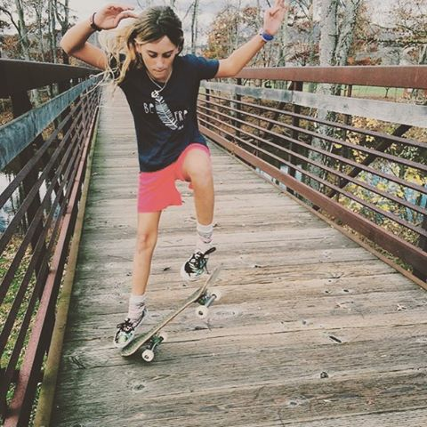 Build a bridge and flip over it #luvsurf #wearthecalidream #skate #be #free #adventure #so #overit