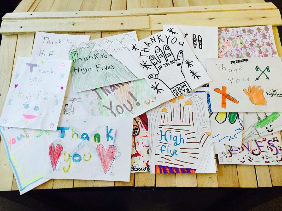 There is nothing that we love more than a good old fashioned THANK YOU card! Students from Waitsfield Elementary in Waitsfield, Vermont sent us cards after presenting #BASICS5 CHOICES.