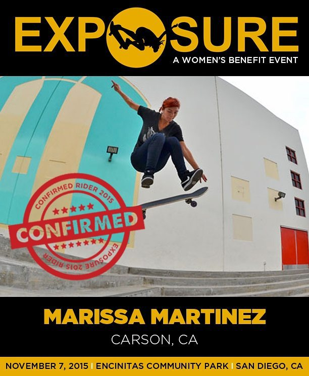 Marissa Martinez (@mamaskate) is confirmed for #Exposure2015.