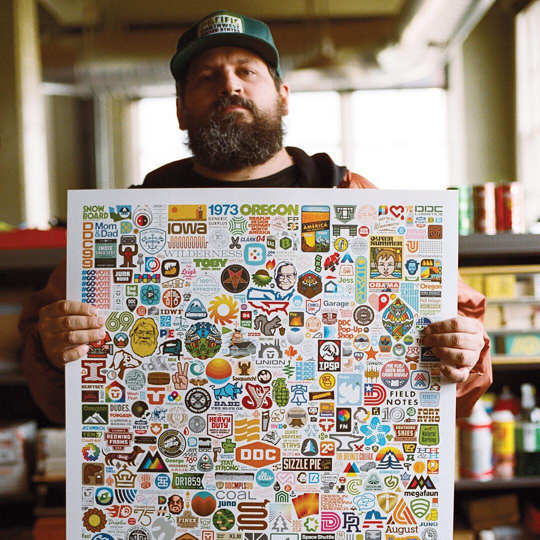 You will find the art and inspiration of @Draplin among the Lost Coast Collection's patterns, graphics and typography. Learn more about the man and the collection at nixon.com/happenings. #NixonNow