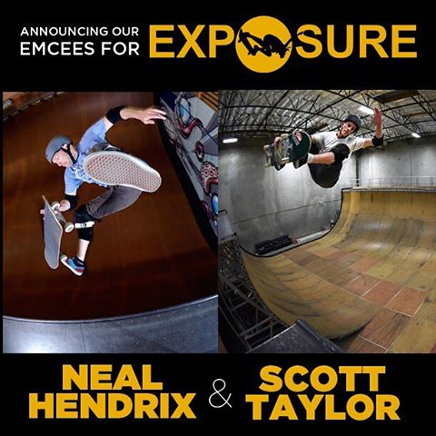 We are so grateful to have the likes of @nealhendrix and Scott Taylor on the mic at #exposure2015 ! #thankyouskateboarding