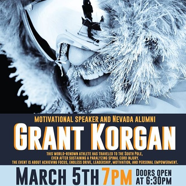Tonight at UNR a legend is speaking, @grantkorgan | This is one of those nights, you do not want to miss