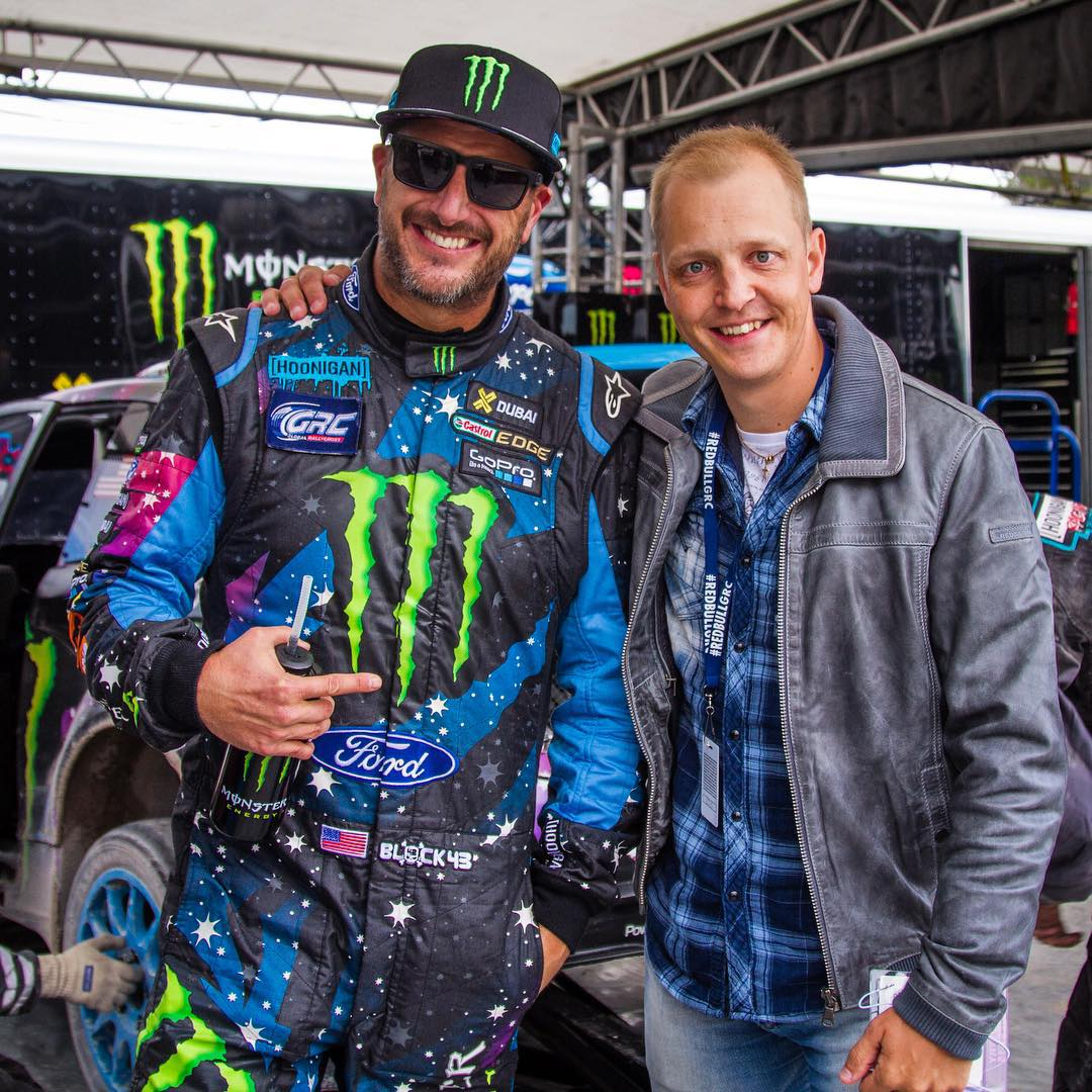 Good to see this former Ford teammate hanging out at #GlobalRallycross Las Vegas: former WRC driver Mikko Hirvonen. Mikko was here in Vegas as part of a vacation and came by to check out our GRC race. #muchtalent #manywins